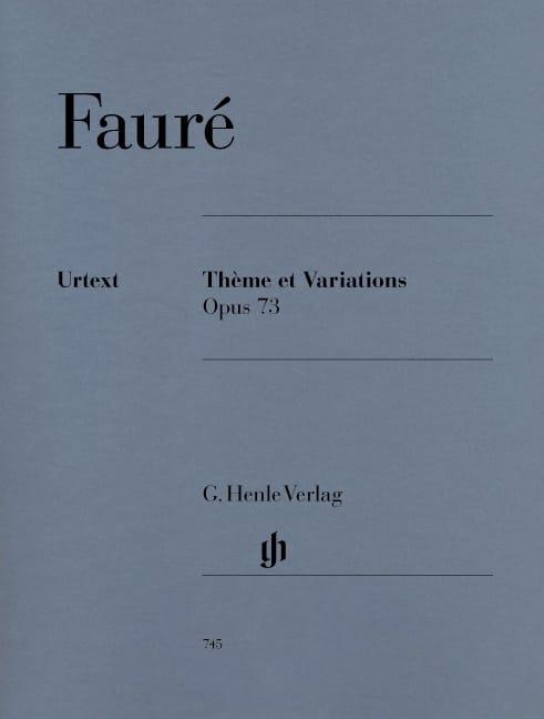 Thème et Variations - FAURÉ - Partition - Piano - laflutedepan.com