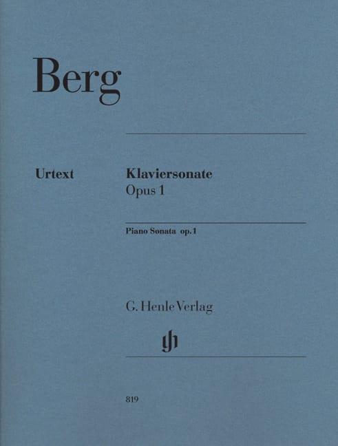 Sonate Pour Piano Opus 1 - BERG - Partition - Piano - laflutedepan.com