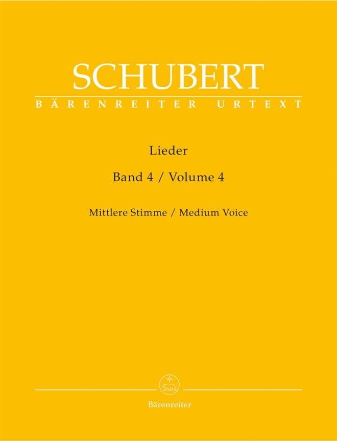 Lieder Volume 4. Voix Moyenne - SCHUBERT - laflutedepan.com