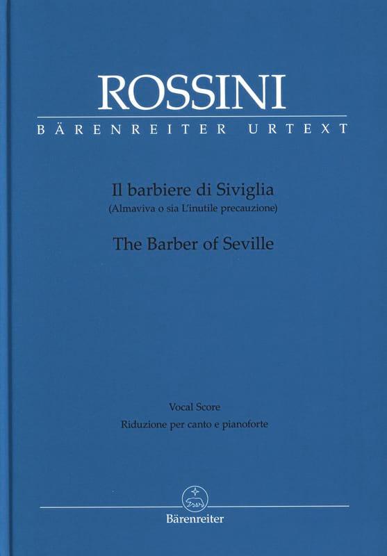 Gioachino Rossini - Il Barbiere di Siviglia - Partition - di-arezzo.co.uk