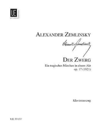 Alexander Zemlinsky - Der Zwerg Op. 17 - Partition - di-arezzo.co.uk