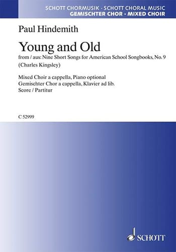 Young And Old - HINDEMITH - Partition - Chœur - laflutedepan.com