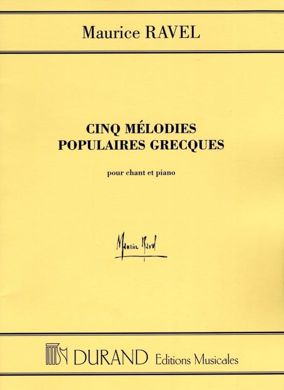 Maurice Ravel - 5 Popular Greek Melodies. Mean Voice - Partition - di-arezzo.com