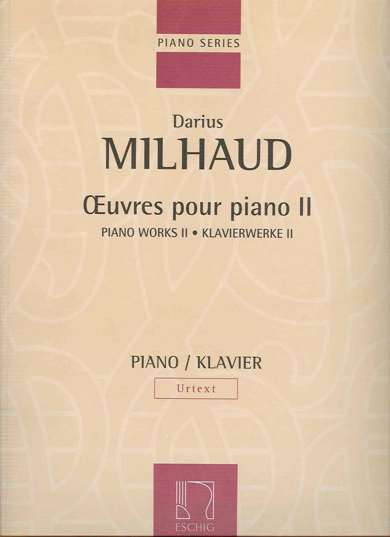 Oeuvre Pour Piano Vol 2 - MILHAUD - Partition - laflutedepan.com