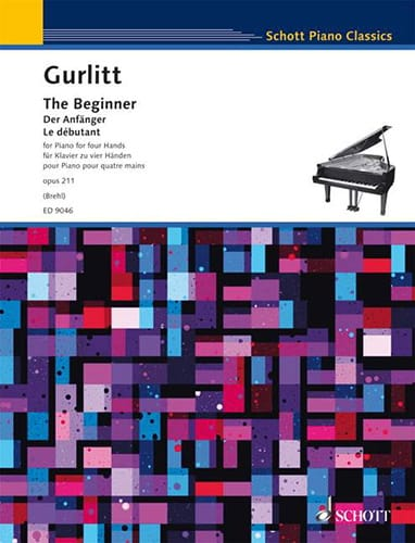 The Beginner. 4 mains - Cornelius Gurlitt - laflutedepan.com