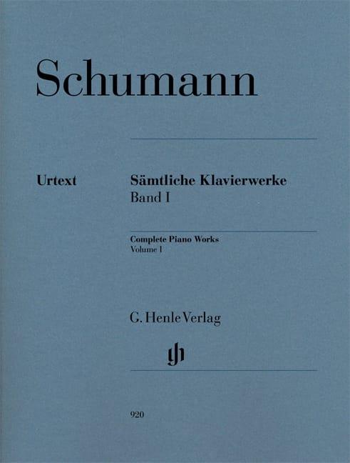 Oeuvre Complète Pour Piano - Volume 1 - SCHUMANN - laflutedepan.com