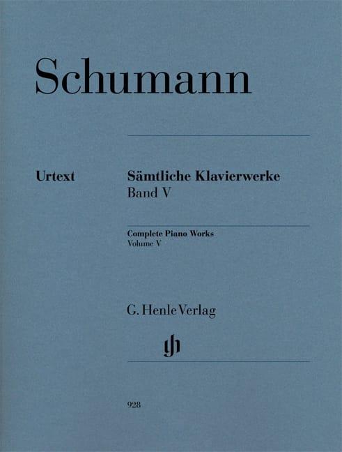 Oeuvre Complète Pour Piano - Volume 5 - SCHUMANN - laflutedepan.com