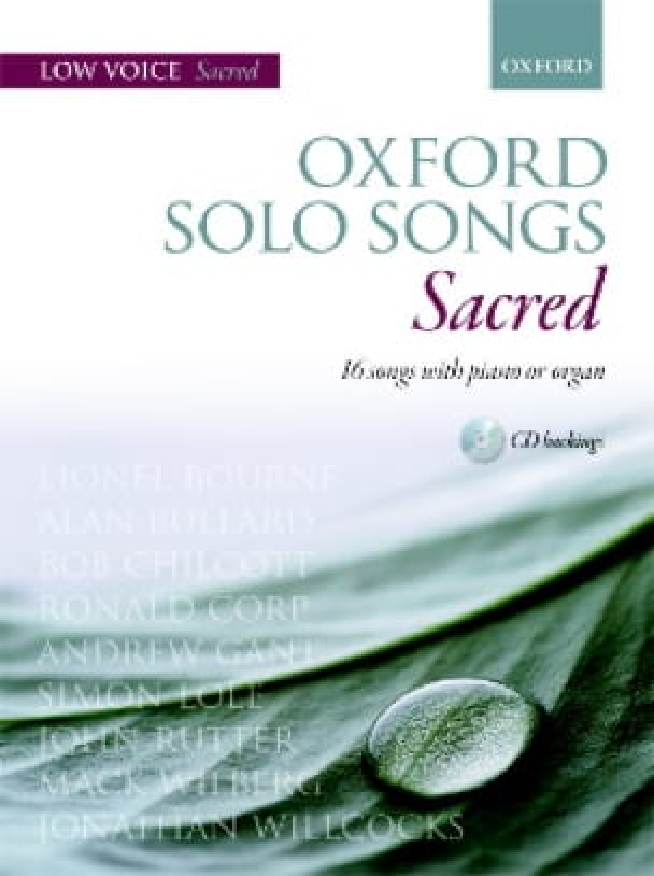 Oxford Solo Songs Sacred Voix Grave - laflutedepan.com