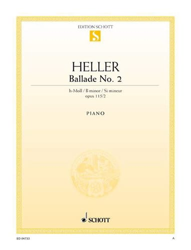 Stephen Heller - Ballad N ° 2 In Minor Si Op 115-2 - Partition - di-arezzo.co.uk