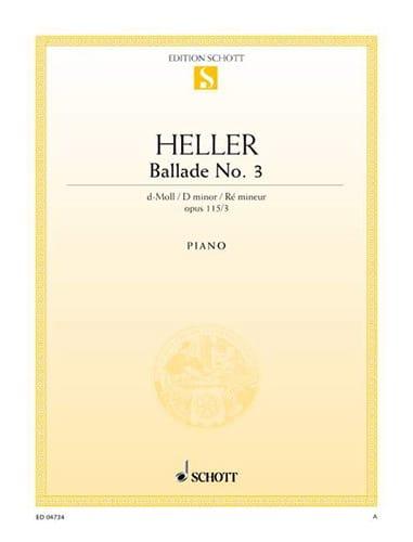 Stephen Heller - Ballad N ° 3 In D Minor Op 115-3 - Partition - di-arezzo.co.uk