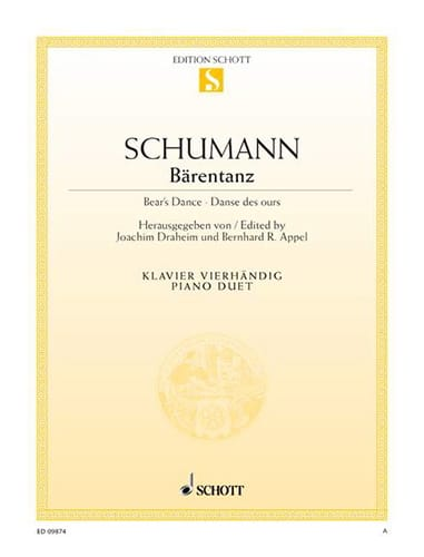SCHUMANN - Bärentanz - Partition - di-arezzo.co.uk