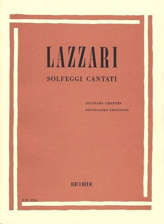 Solfeggi Cantanti - Sylvio Lazzari - Partition - laflutedepan.com