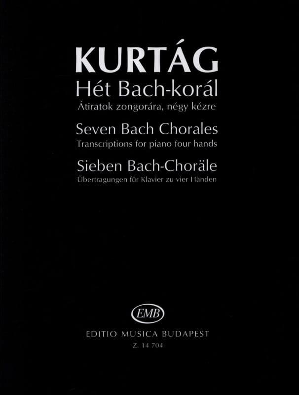 György Kurtag - Seven Bach Choral - Partition - di-arezzo.co.uk