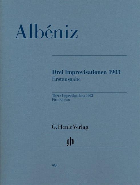 Trois Improvisations 1903 - Partition - ALBENIZ - laflutedepan.com
