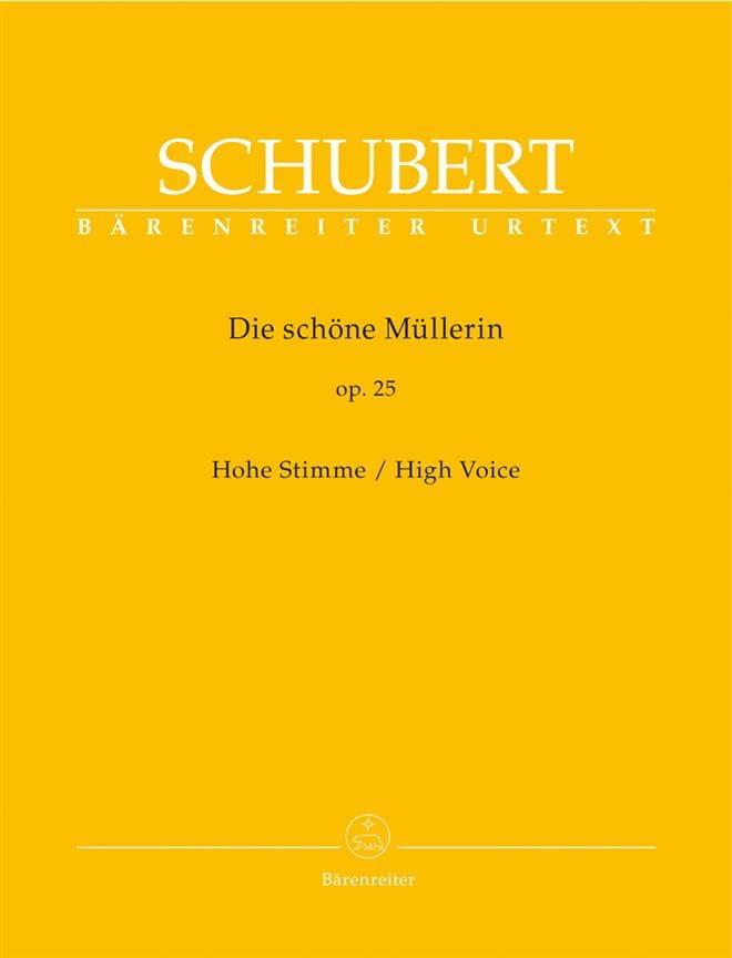 SCHUBERT - Die Schöne Müllerin Opus 25. High Voice - Partition - di-arezzo.es