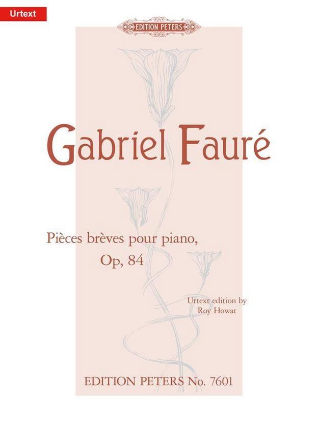 Pièces Brèves Opus 84 - FAURÉ - Partition - Piano - laflutedepan.com