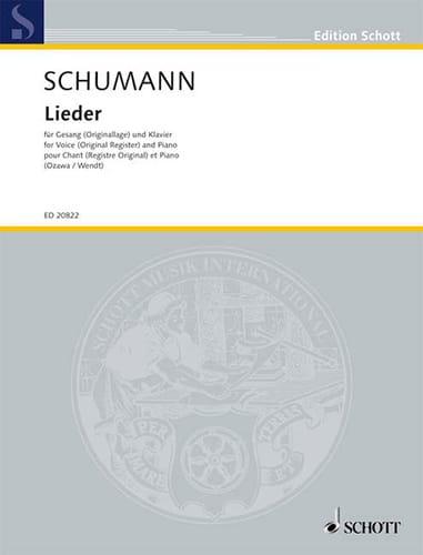 SCHUMANN - Lieder - Partition - di-arezzo.com