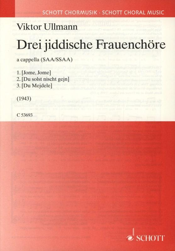 Drei Jiddische Frauenchöre - Viktor Ullmann - laflutedepan.com