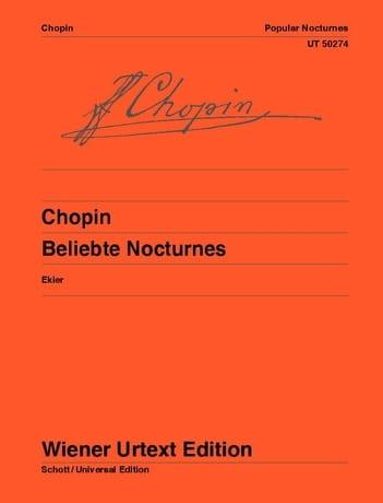 Célèbres Nocturnes - CHOPIN - Partition - Piano - laflutedepan.com