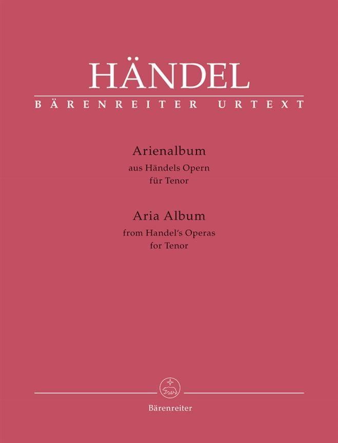 Arienalbum. Ténor - HAENDEL - Partition - Recueils - laflutedepan.com