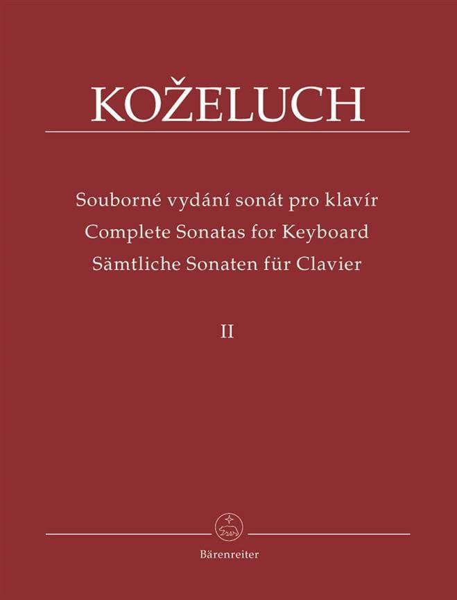 Sonates Pour Clavier. Volume 2 - laflutedepan.com