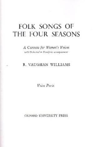 Williams Ralph Vaughan - Folksongs Of The 4 Seasons - Partition - di-arezzo.fr