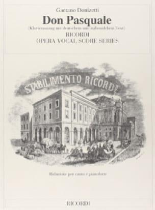Don Pasquale - DONIZETTI - Partition - Opéras - laflutedepan.com