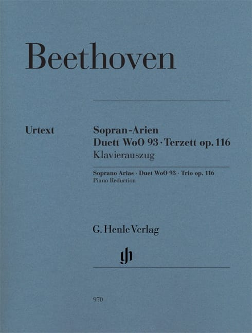 BEETHOVEN - Sopran-Arien. Duett Woo 93. Terzett Op. 116 - Partition - di-arezzo.co.uk