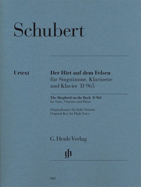 SCHUBERT - Der Hirt Auf Felsen Dem D 965 Opus Posth 129 - Partition - di-arezzo.co.uk