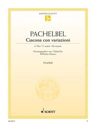 Johann Pachelbel - Ciacona Con Variazioni - Partition - di-arezzo.co.uk