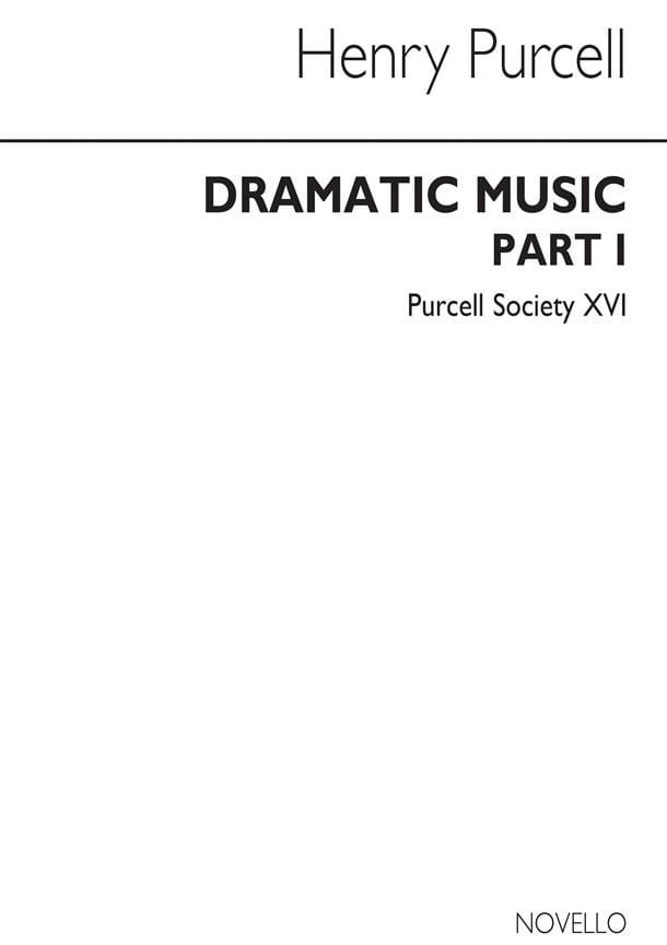Henry Purcell - Dramatic Music Part 1 - Partition - di-arezzo.co.uk