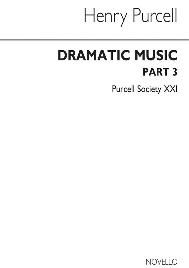 Henry Purcell - Dramatic Music Part 3 - Partition - di-arezzo.co.uk