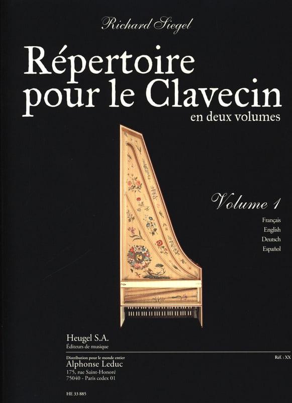 Richard Siegel - Directory For the Harpsichord. Volume 1 - Partition - di-arezzo.com