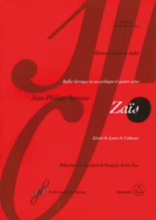 Jean-Philippe Rameau - Zaïs - Partition - di-arezzo.co.uk
