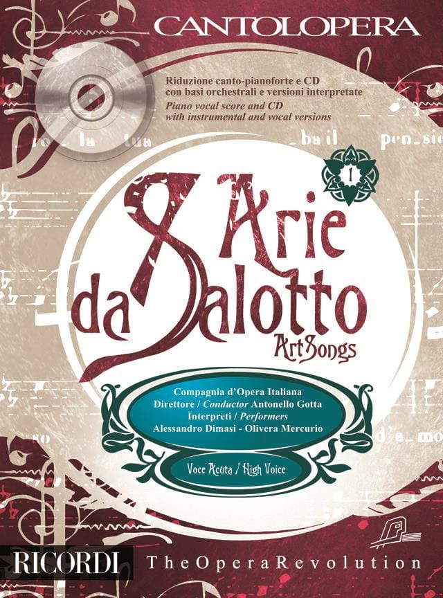 Arie Da Salotto. Voix Haute - Partition - laflutedepan.com