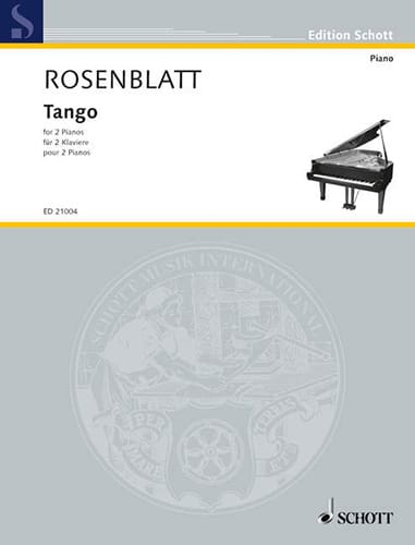 Tango - Alexander Rosenblatt - Partition - Piano - laflutedepan.com