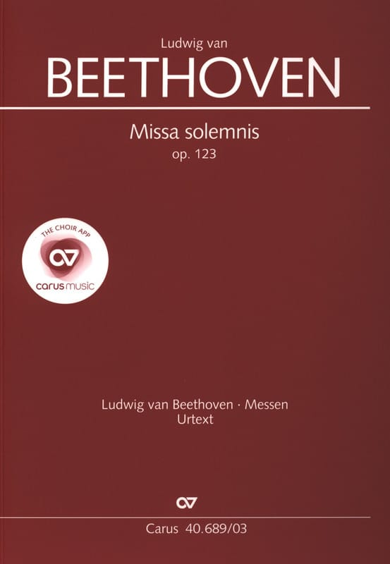 BEETHOVEN - ミサ・ソレムニス作品123 - Partition - di-arezzo.jp