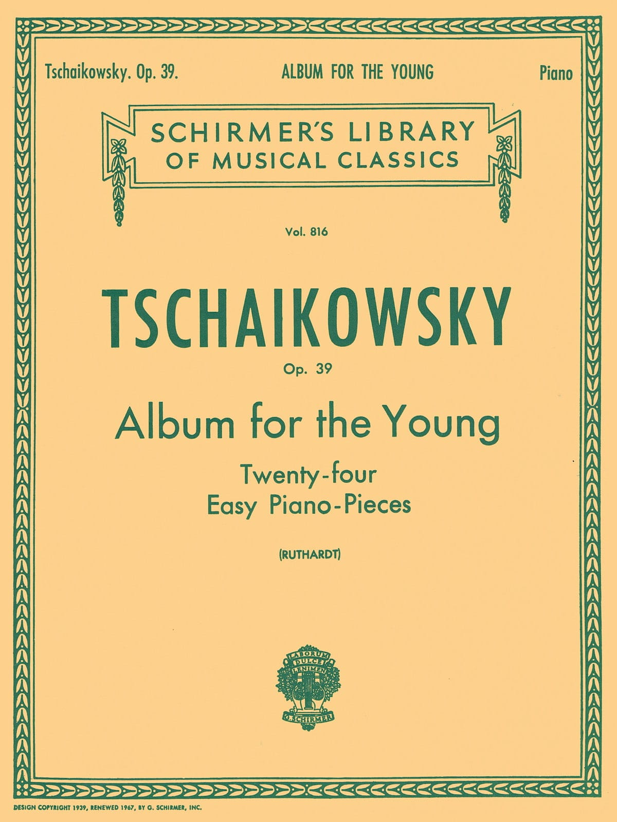 TCHAIKOWSKY - Album For The Young Opus 39 - Partition - di-arezzo.com