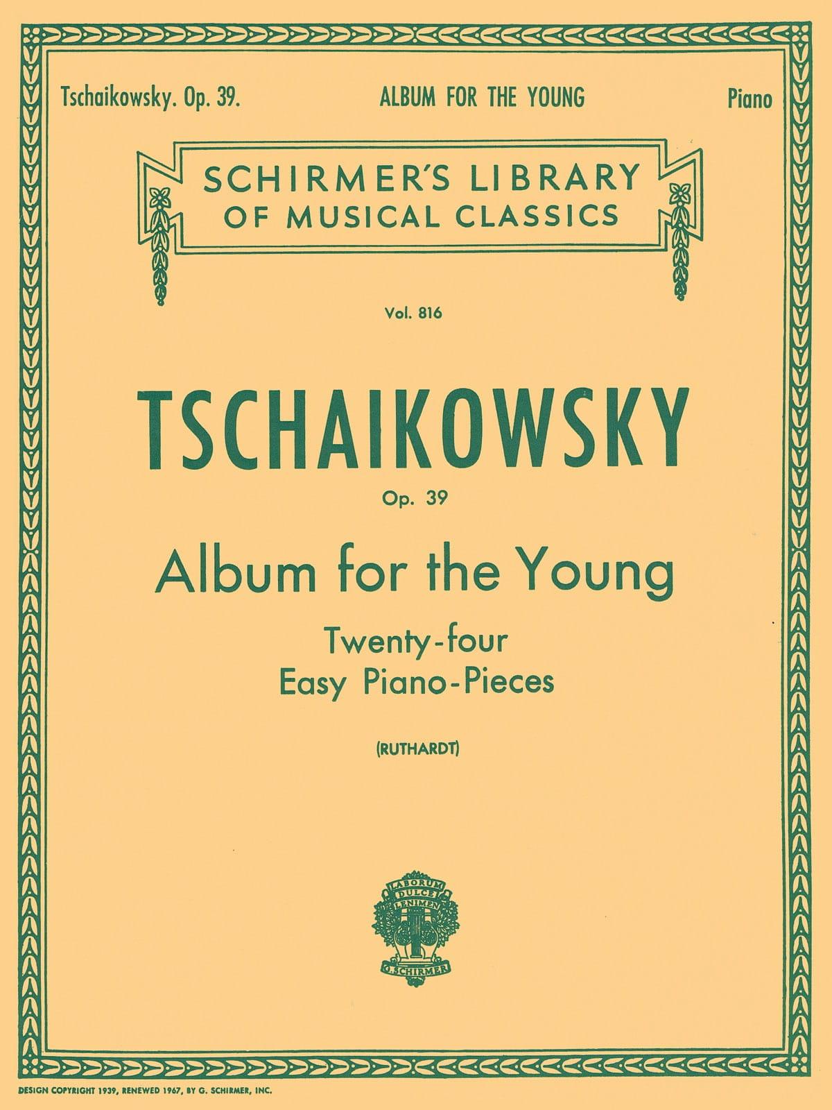 Album For The Young Opus 39 - TCHAIKOVSKY - laflutedepan.com
