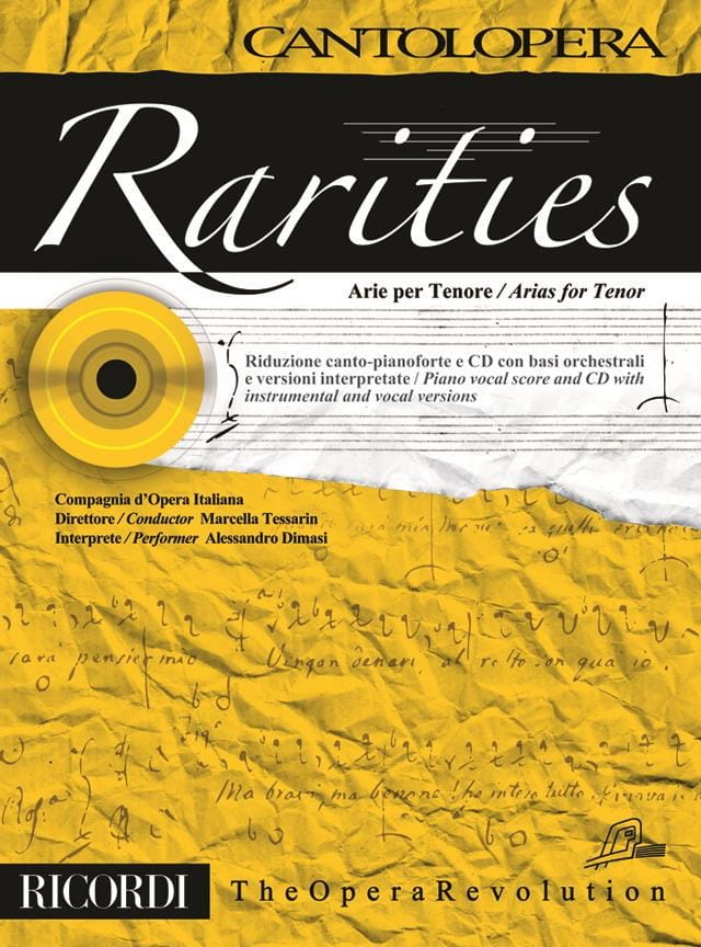 Rarities. Arie per tenor - Partition - Recueils - laflutedepan.com