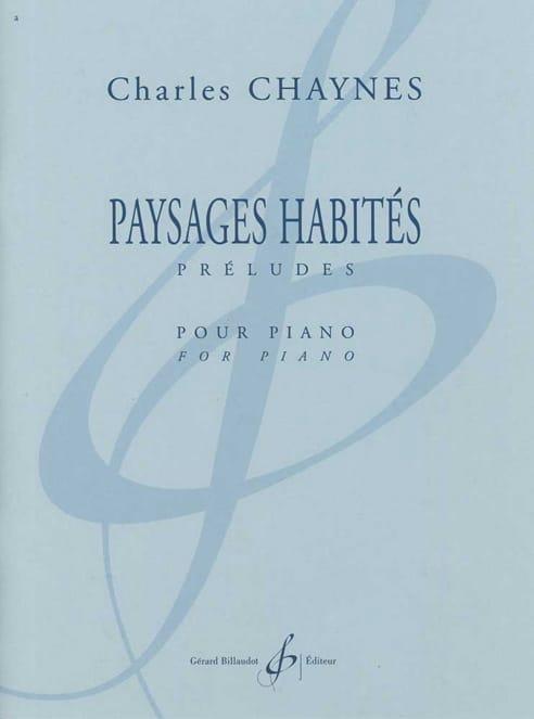 Paysages Habités - Charles Chaynes - Partition - laflutedepan.com