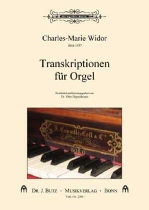 Orgeltrankriptionen - WIDOR - Partition - Orgue - laflutedepan.com