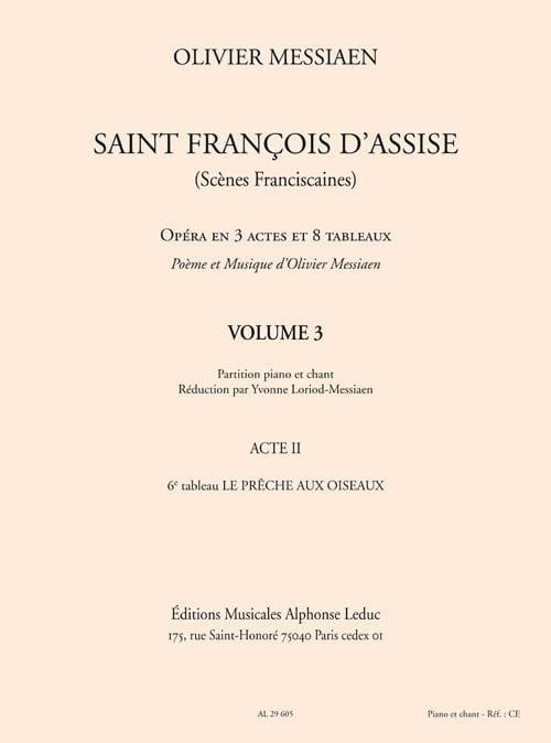 Saint François d'Assise Volume 3 - Acte 2 - laflutedepan.com