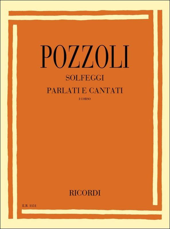 Solfeggi Parlati Cantati 1 - Ettore Pozzoli - laflutedepan.com