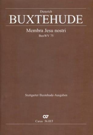 Membra Jesu Nostri. choeur - BUXTEHUDE - Partition - laflutedepan.com