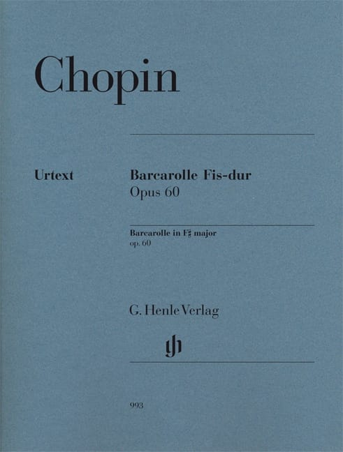 CHOPIN - Barcarolle in F sharp major Opus 60 - Partition - di-arezzo.co.uk