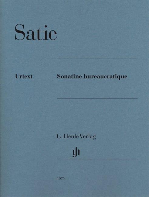 Sonatine Bureaucratique - Erik Satie - Partition - laflutedepan.com