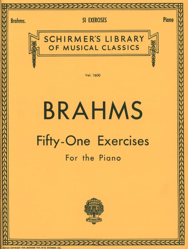 BRAHMS - 51 Exercises - Partition - di-arezzo.co.uk