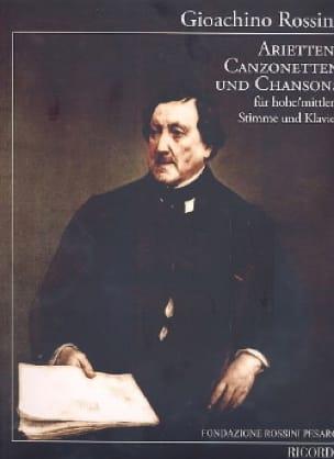 Gioachino Rossini - Arietten, Canzonetten y canciones - Partition - di-arezzo.es