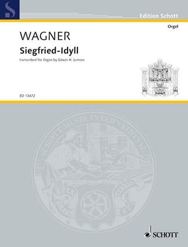 Siegfried Idyll - WAGNER - Partition - Orgue - laflutedepan.com